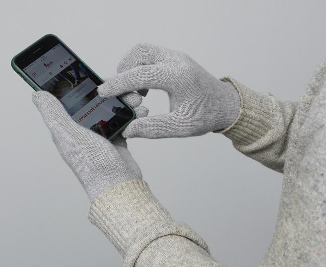Skafit zilverhandschoen telefoon