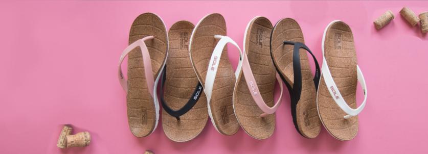 Dames slippers tegen hielspoor