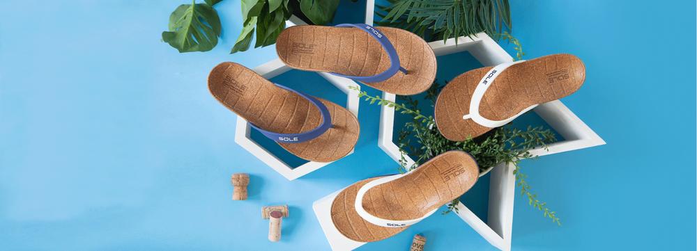Heren slippers met voetbed