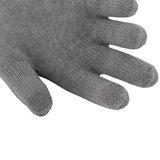 Skafit zilverhandschoen lange manchet detail