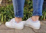 Footies wit in schoenen