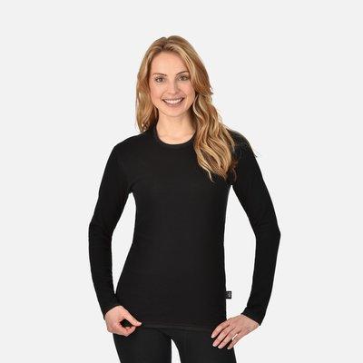 Best4Body zilvergaren t-shirt lange mouwen zwart (unisex)