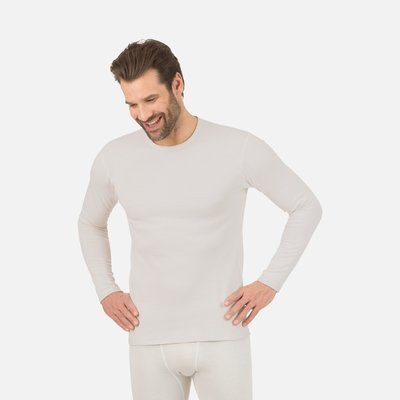 Best4Body zilvergaren t-shirt lange mouwen wit (unisex)
