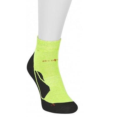 Best4Feet korte sportsok met 12% Zilvergaren (Neon Yellow)