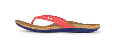 Sole Beach heren slippers Chili