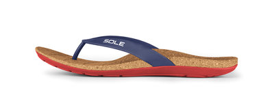 Sole Beach heren slippers Navy