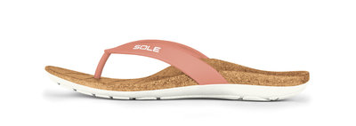 Sole Beach dames slippers Blush