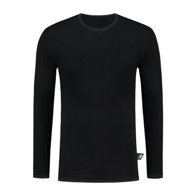 Best4Body zilvergaren t-shirt lange mouwen zwart
