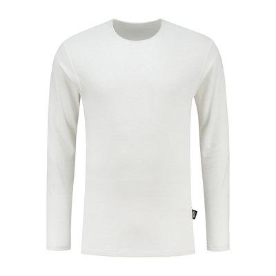 Best4Body zilvergaren t-shirt lange mouwen wit