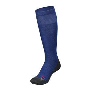 Zilver ski/sport sokken Royal Blue