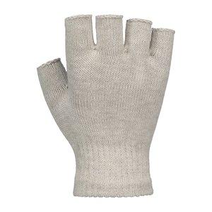 Vingerloze zilverhandschoenen achterkant