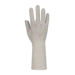 Zilverhandschoen lange manchet voor