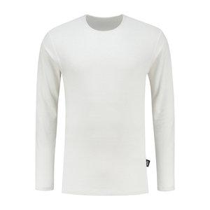T-shirt zilvergaren lange mouwwit